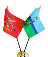 MILITARY FRIENDSHIP TABLE FLAGS